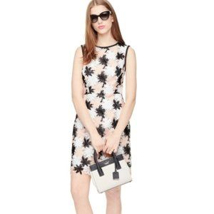 Kate Spade Tiger Lily Embroidered Sheath Dress